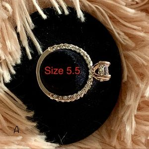 Jewelry - Yellow Gold Tone Dainty Halo Ring